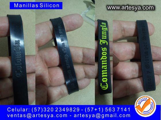 manillas silicona