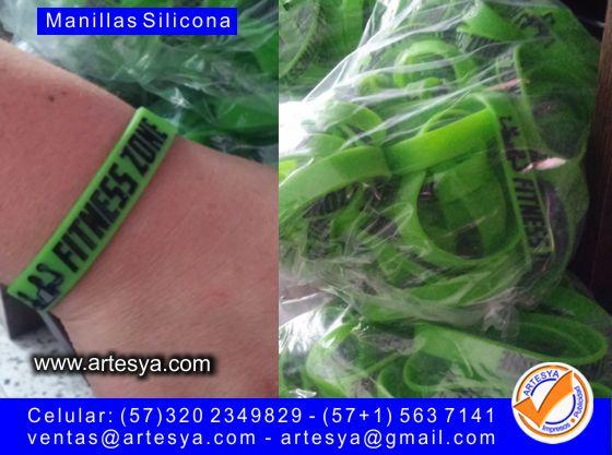 manillas silicona bajo relieve impresión