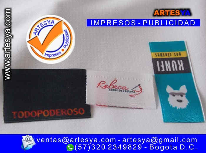 3703d45f1da2 Marquillas👔 fabrica de marquillas para ropa 👕👖 Bogota